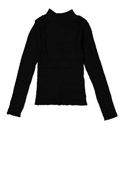Girls 7-16 Caged Sleeve Mock Neck Sweater - 3606038340154