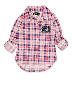 Girls 7-16 GRL PWR Reversible Sequin Pocket Detail Shirt - 3606038340231
