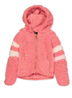 Girls 7-16 Zip Front Sherpa Sweatshirt - 3606038340234