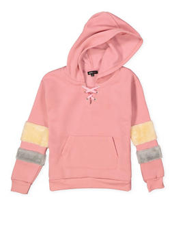Girls 7-16 Lace Up Sweatshirt - 3606038341017