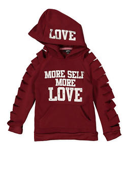 Girls 7-16 Slashed Sleeve Graphic Sweatshirt - 3606038341022