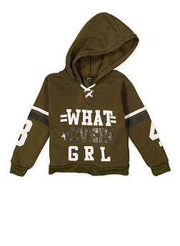 Girls 7-16 Graphic Lace Up Sweatshirt - 3606038341024