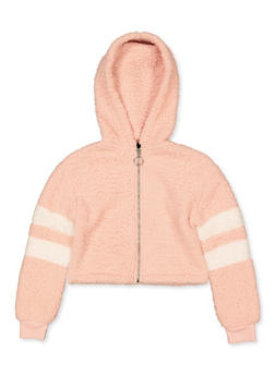 Girls 7-16 Hooded Sherpa Sweatshirt - 3606051060035