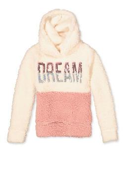 Girls 7-16 Dream Color Block Sherpa Sweatshirt - 3606061950021