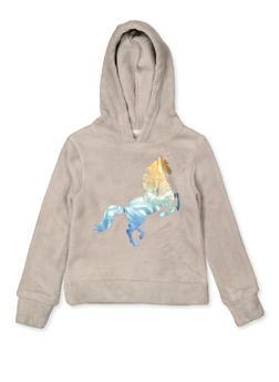 Girls 7-16 Foil Unicorn Sweatshirt - 3606061950026