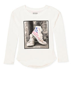 Girls 7-16 Converse Sneaker Graphic Top - 3606070340011