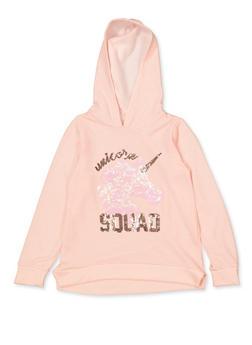 Girls 7-16 Sequin Unicorn Squad Sweatshirt - 3606072200004