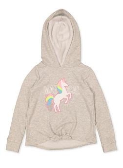 Girls 7-16 Magical Unicorn Sweatshirt - 3606072200010