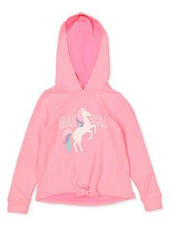 Girls 7-16 Magical Unicorn Sweatshirt | Pink - 3606072200011