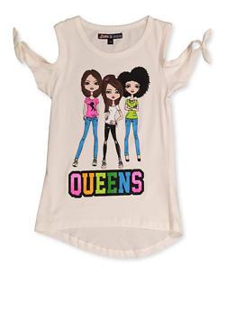 Girls 7-16 Queens Graphic Top - 3606075540109