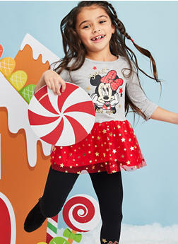 Girls 4-6x Minnie Mouse Graphic Top with Leggings - 3607009290060