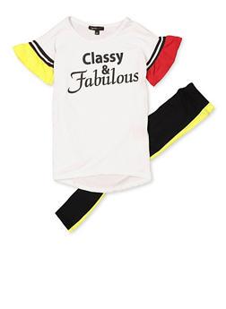 Girls 4-6x Classy and Fabulous Tee and Leggings Set - 3607038340096