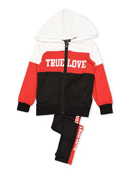 Girls 4-6x True Love Color Block Top and Leggings - 3607038340133