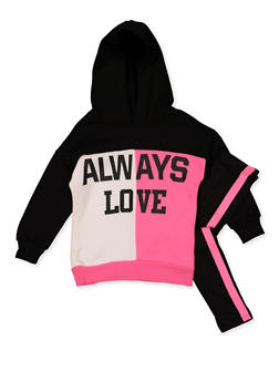 Girls 4-6x Always Love Color Block Sweatshirt with Leggings - 3607038340143