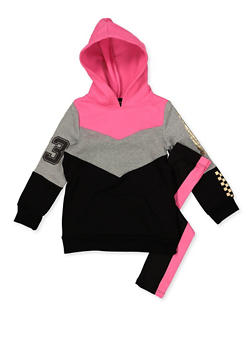 Girls 4-6x Too Flawless Sweatshirt and Leggings - 3607038340147