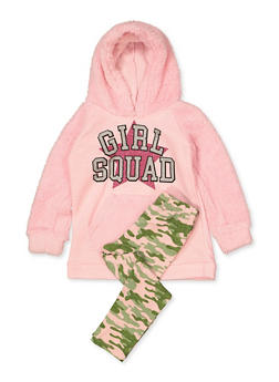 Girls 4-6x Girls Squad Sweatshirt and Camo Leggings - 3607054730066