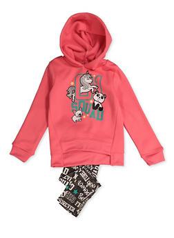 Girls 4-6x Squad Graphic Sweatshirt and Leggings - 3607061950181