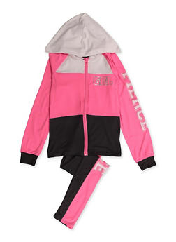 Girls 7-16 Grl Fierce Color Block Sweatshirt and Leggings - 3608038340120