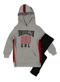 Girls 7-16 Brooklyn Grl 90 Sweatshirt with Leggings - 3608038340138