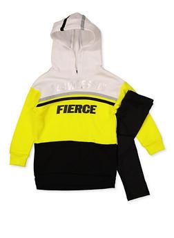 Girls 7-16 Flawlessly Fierce Color Block Sweatshirt with Leggings - 3608038340139