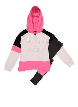 Girls 7-16 Girls Equal Future Sweatshirt with Leggings - 3608038340141