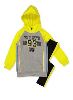 Girls 7-16 Whats Up 93 Sweatshirt with Leggings - 3608038340143
