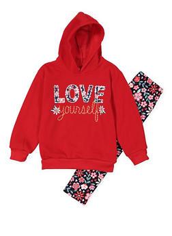 Girls 7-16 Graphic Sweatshirt with Leggings - 3608048370030
