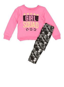 Girls 7-16 Graphic Sweatshirt and Leggings Set - 3608054730001