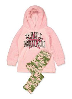 Girls 7-16 Graphic Sweatshirt and Camo Leggings - 3608054730009