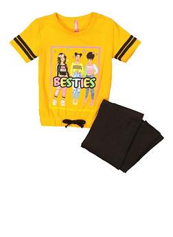 Girls Bestie Tee and Leggings - 3608066590041