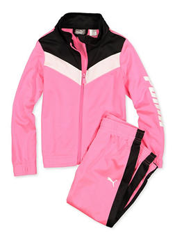 Girls 4-6x Puma Track Jacket and Joggers - 3611075230008