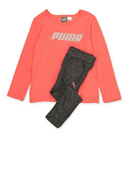 Girls 4-6x Puma Tee and Leggings Set - 3611075230013