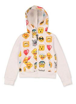 Girls 4-6x Emoji Quilted Sweatshirt - 3612063400001