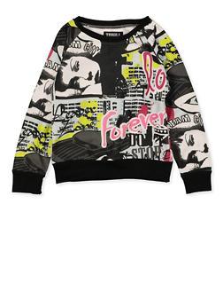 Girls 7-16 Graffiti Sweatshirt - 3613063400002