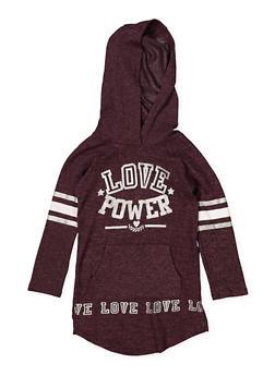 Girls 4-6x Love Power Sweatshirt Dress - 3614038340051