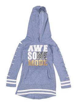 Girls 4-6x Awesome Mode Sweatshirt Dress - 3614038340052