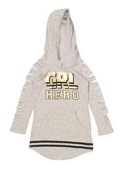 Girls 4-6x GRL Hero Sweatshirt Dress - 3614038340055
