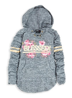 Girls 4-6x Blessed Foil Graphic Sweatshirt Dress - 3614038340073