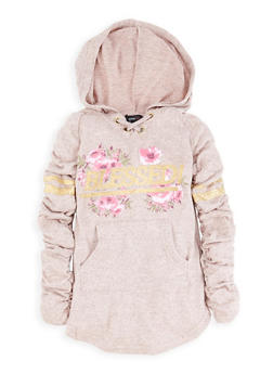 Girls 4-6x Blessed Foil Graphic Sweatshirt Dress - 3614038340073