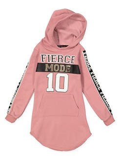 Girls 4-6x Fierce Mode Graphic Sweatshirt Dress - 3614038340078