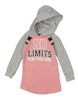 Girls 4-6x Color Block Graphic Sweatshirt Dress - 3614038340079