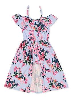 Girls 4-6x Floral Soft Knit Maxi Romper - 3614038340105