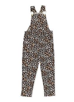 Girls 4-6x Leopard Overalls - 3614038340117