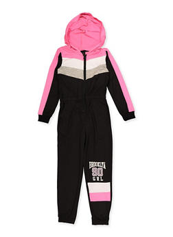 Girls 4-6x Brooklyn GRL 90 Zip Front Jumpsuit - 3614038340118