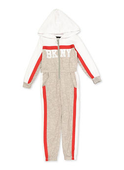 Girls 4-6x BK NY Color Block Jumpsuit - 3614038340119