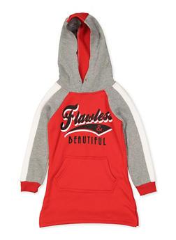 Girls 4-6x Flawless and Beautiful Sweatshirt Dress - 3614038340126