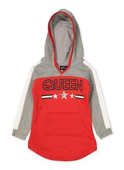 Girls 4-6x Queen Color Block Sweatshirt Dress - 3614038340130