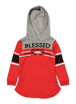 Girls 4-6x Blessed Grl Sweatshirt Dress - 3614038340131