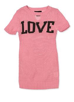 Girls 4-6x Love Sweater Dress - 3614038340151