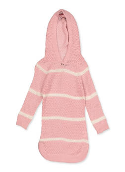 Girls 4-6x Hooded Striped Sweater Dress - 3614038340153